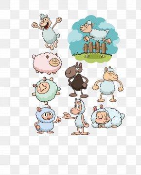 Cute Lamb - Sheep Cartoon Illustration PNG