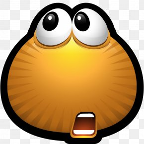 Shocked Happy Face - Emoticon Smiley Monster Icon PNG