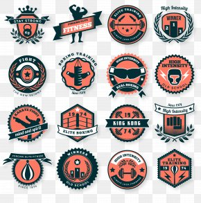 Creative Fitness Club Tag Vector Material - Merit Badge Scouting Boy Scouts Of America Clip Art PNG