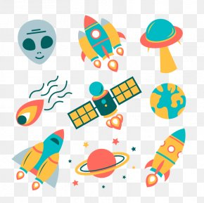 Flat Air Rockets Vector Download - Spacecraft Euclidean Vector Rocket Astronaut PNG