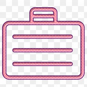 Rectangle Pink - Streamline Icon Suitcase Icon Travel Icon PNG