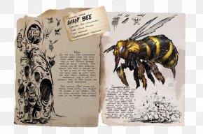 Bee - ARK: Survival Evolved Western Honey Bee Beehive Queen Bee PNG