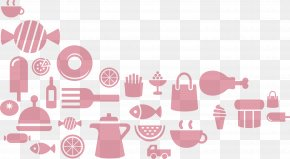 Food Collage Silhouette - Food Silhouette Collage PNG