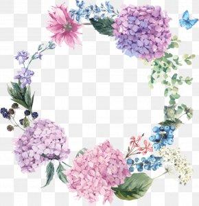 Flower - Hydrangea Floral Design Flower Greeting & Note Cards Garden PNG