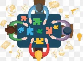 Team Work Vector Illustration - Teamwork Illustration PNG