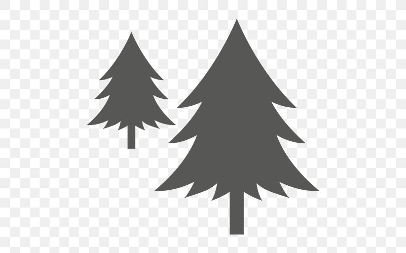 White Christmas Tree Png.Pine Tree Png 512x512px Pine Black And White Christmas