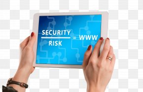 Holding A Tablet - Computer Security Internet Antivirus Software Data Security PNG