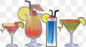 Cartoon Summer Drink Material Free To Pull - Cocktail Garnish Martini Non-alcoholic Drink PNG