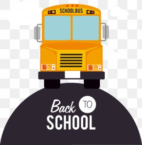 Cartoon Yellow Bus Painted School Season - School Bus Student School Bus PNG