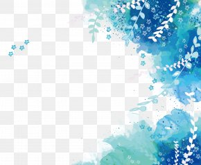 Vector Blue Tree Rattan Pattern PNG