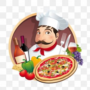 Pizza Chef Poster - Pizza Take-out Chef Restaurant PNG
