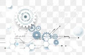 Vector Gear Tech Fashion Line - Gear Technology Wheel Illustration PNG