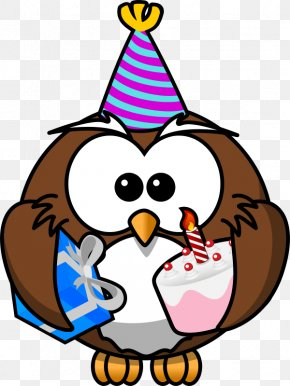 Birthday Clip Art - Owl Cartoon Clip Art PNG