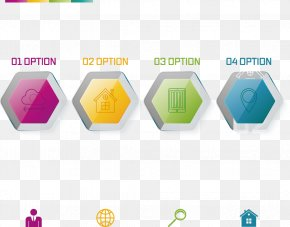 Vector Creative Design Work Steps Hexagon Diagram - Hexagon Graphic Design Euclidean Vector PNG