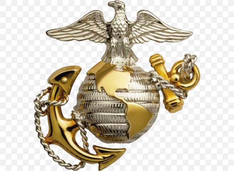 United States Marine Corps Eagle, Globe, And Anchor Marines, PNG, 585x600px, United States, Army Officer, Brass, Commandant Of The Marine Corps, Eagle Download Free