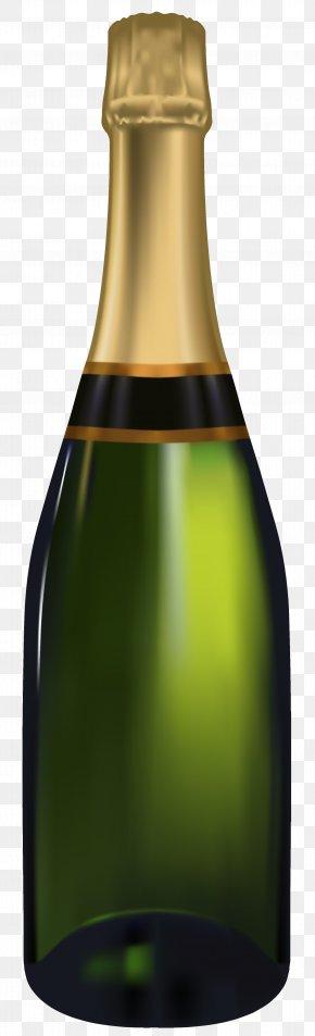 Bottle 3 - Champagne Sparkling Wine Bottle PNG