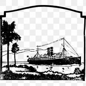Tropical Vacation Pictures - Cruise Ship Line Art Clip Art PNG