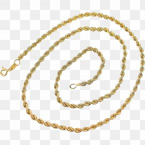 Necklace - Earring Necklace Jewellery Gold Rope Chain PNG
