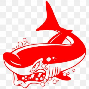 Shark - Shark Black And White Wall Decal PNG