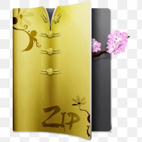 Compressed Zip - Flower Yellow PNG