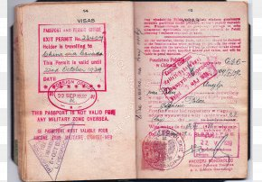 Passport - Italian Passport Second World War Travel Visa Consulate PNG