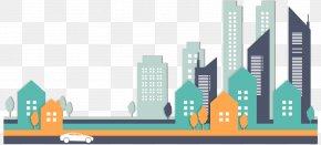 Stylish City Building Vector Clip Art - New York City Building Clip Art PNG