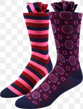 Socks - Sock Footwear Shoe Boot Rose PNG