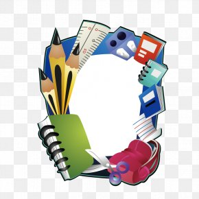 Creative School Supplies - Borders And Frames Picture Frame Clip Art PNG