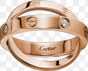 Ring - Cartier Ring Love Bracelet Diamond Colored Gold PNG