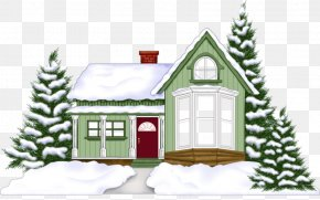 Building Green Christmas - Christmas Card House Home New Year PNG