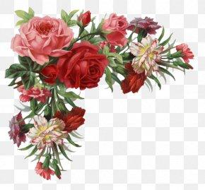 Rose Border - Flower Rose Vintage Clothing Clip Art PNG