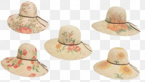 Raffia Hat HD - Sun Hat Straw Hat Fashion Accessory PNG