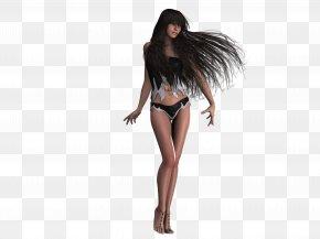 Hairdressing - Long Hair Model Black Hair Artificial Hair Integrations PNG