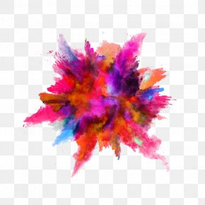 Ink-like Color Powder Explosion - Color Powder Explosion Dust Stock Photography PNG