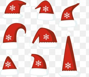 Vector Christmas Hats - Hat Christmas Euclidean Vector Clip Art PNG