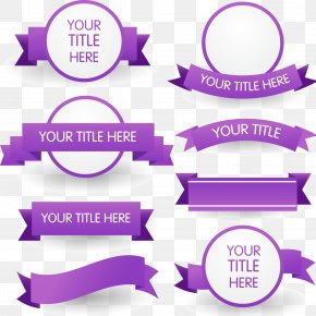 8 Purple Ribbon Banner Vector Material - Purple Ribbon Euclidean Vector PNG