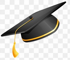 Black Bachelor Cap - Square Academic Cap Graduation Ceremony Clip Art PNG