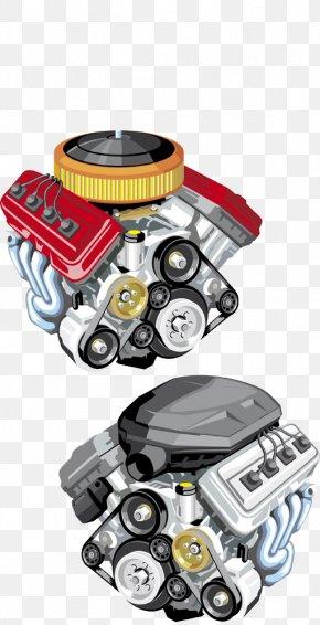 Hand-painted Cartoon Car Engine - Car Exhaust System Mechanics Automobile Repair Shop Shutterstock PNG