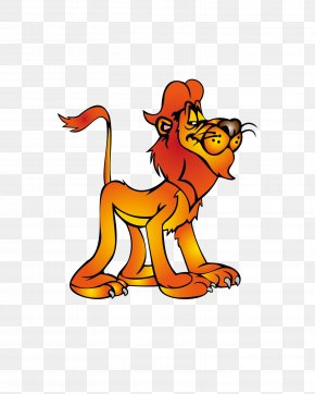 Cute Cartoon Lion - Lion Animation Cartoon PNG