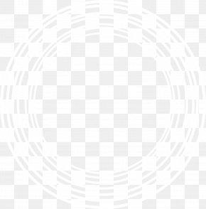 White Circle - White Black Pattern PNG