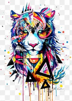 Tiger - Tiger Watercolor Painting Drawing Illustration PNG