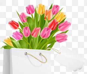 Spring Bag With Tulips PNG Clipart Picture - International Women's Day Public Holiday March 8 Clip Art PNG