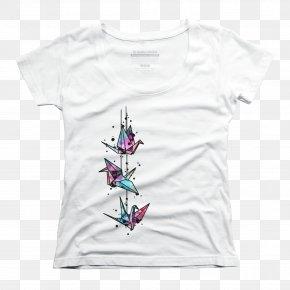T-shirt - T-shirt Top Sleeve Scoop Neck PNG