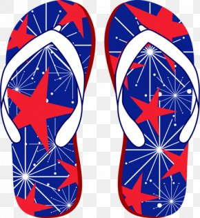Fourth Of July - Flip-flops Clip Art PNG