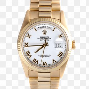 Gold - Platinum Gold Watch Rolex Day-Date PNG