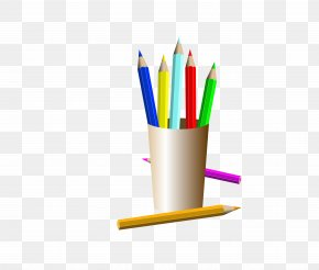 Filled With Color Pencil Pen - Artist Drawing Easel Clip Art PNG