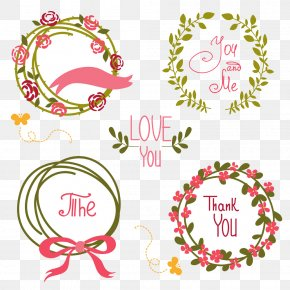 Flowers Contributed Ring - Wedding Invitation Flower Wreath Clip Art PNG