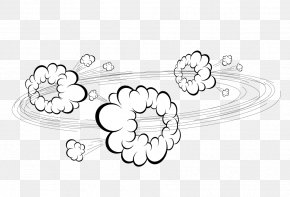 Dust Explosion Cartoon Cloud Material - Dust Explosion Drawing Cartoon PNG