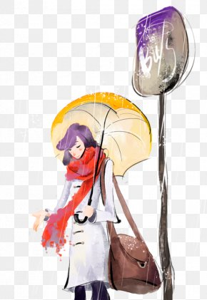 Cartoon Sad Rainy Day Illustration - Stock Photography Umbrella Illustration PNG