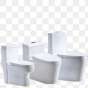 Toilet Combination - Toilet Seat Bathroom Ceramic PNG